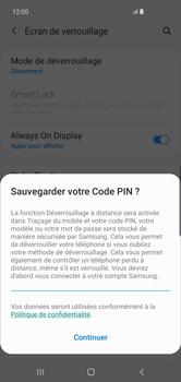 Samsung Galaxy S10 Plus - Sécurité - activéz le code PIN de l'appareil - Étape 12