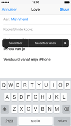 Apple iPhone 5 iOS 7 - e-mail - hoe te versturen - stap 9