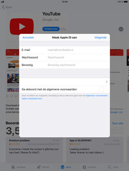 Apple iPad Mini 4 - iOS 11 - Applicaties - Account aanmaken - Stap 7