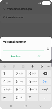 Samsung Galaxy S10 Plus - Voicemail - handmatig instellen - Stap 12