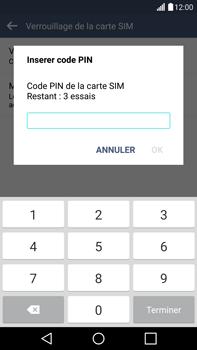LG G4 - Sécuriser votre mobile - Personnaliser le code PIN de votre carte SIM - Étape 8