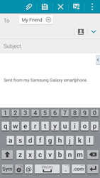 Samsung G800F Galaxy S5 Mini - E-mail - Sending emails - Step 8