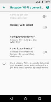 Motorola Moto G6 Plus - Wi-Fi - Como usar seu aparelho como um roteador de rede wi-fi - Etapa 6