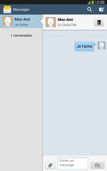 Samsung Galaxy Tab 3 8 4G - Contact, Appels, SMS/MMS - Envoyer un SMS - Étape 11