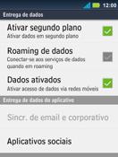 Motorola Master XT605 - Rede móvel - Como ativar e desativar uma rede de dados - Etapa 6