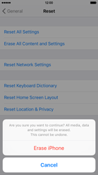 Apple iPhone 6 iOS 9 - Device - Reset to factory settings - Step 8