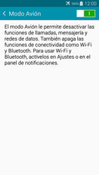 Samsung Galaxy A3 - Funciones básicas - Activar o desactivar el modo avión - Paso 6