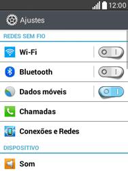LG D100 L20 - Rede móvel - Como ativar e desativar uma rede de dados - Etapa 4