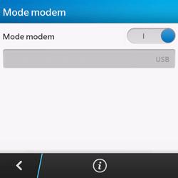 BlackBerry Q10 - Internet et connexion - Utiliser le mode modem par USB - Étape 13