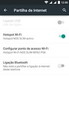 NOS SLIM - Internet no telemóvel - Como partilhar os dados móveis -  10