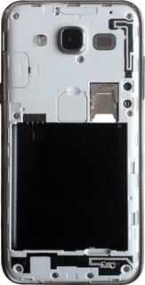 Samsung Galaxy J5 - Primeros pasos - Quitar y colocar la batería - Paso 3