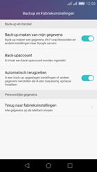 Huawei Honor 5X - Device maintenance - Terugkeren naar fabrieksinstellingen - Stap 6