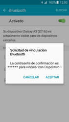 Samsung Galaxy A3 (2016) - Bluetooth - Conectar dispositivos a través de Bluetooth - Paso 7