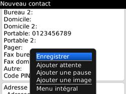 BlackBerry 8520 - Contact, Appels, SMS/MMS - Ajouter un contact - Étape 8