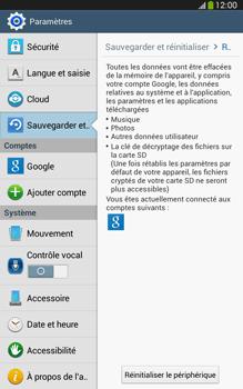 Samsung Galaxy Tab 3 8 4G - Aller plus loin - Restaurer les paramètres d'usines - Étape 6