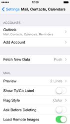 Apple iPhone 5 iOS 7 - E-mail - Manual configuration (outlook) - Step 9