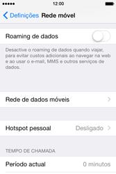 Apple iPhone 4S iOS 8 - Internet no telemóvel - Como partilhar os dados móveis -  4