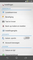 Sony Xperia Z1 4G (C6903) - Instellingen aanpassen - Fabrieksinstellingen terugzetten - Stap 4