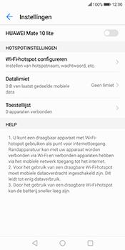 Huawei Mate 10 Lite (Model RNE-L21) - WiFi - Mobiele hotspot instellen - Stap 9