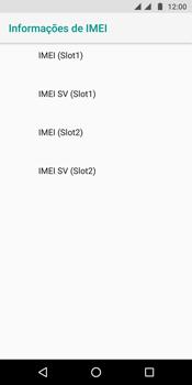 Motorola Moto G6 Plus - Primeiros passos - Como encontrar o número de IMEI do seu aparelho - Etapa 8
