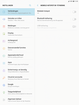 Samsung Galaxy Tab S2 9.7 - Android Nougat - WiFi - Mobiele hotspot instellen - Stap 5