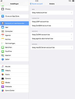 Apple iPad Pro 10.5 inch - iOS 11 - E-mail - Account instellen (IMAP zonder SMTP-verificatie) - Stap 6