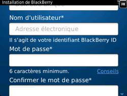 BlackBerry 9320 Curve - BlackBerry activation - BlackBerry ID activation - Étape 9