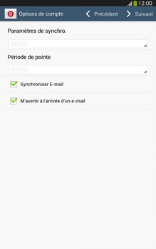 Samsung T315 Galaxy Tab 3 8-0 LTE - E-mail - Configuration manuelle - Étape 15
