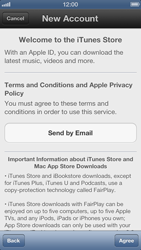 Apple iPhone 5 - Applications - Create an account - Step 6