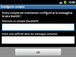 Samsung B5510 Galaxy TXT - E-mail - Configuration manuelle - Étape 13