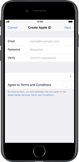 Apple iPhone X - Applications - Create an account - Step 7