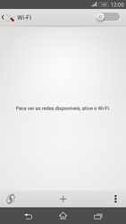 Sony Xperia E4G - Wi-Fi - Como configurar uma rede wi fi - Etapa 5