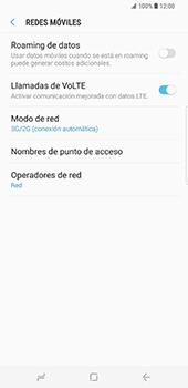 Samsung Galaxy S8 Plus - Red - Seleccionar el tipo de red - Paso 6