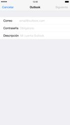 Apple iPhone 6 Plus iOS 8 - E-mail - Configurar Outlook.com - Paso 6