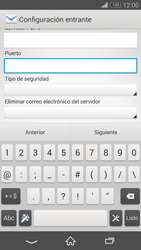 Sony Xperia Z3 - E-mail - Configurar correo electrónico - Paso 10