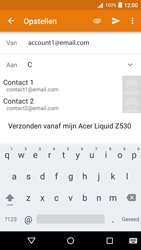Acer Liquid Z530 - E-mail - Bericht met attachment versturen - Stap 6
