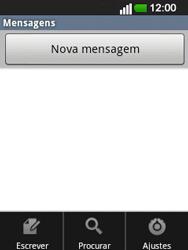 LG E400 - SMS - Como configurar o centro de mensagens -  5