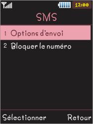 Samsung S5050 Allure S - SMS - Configuration manuelle - Étape 6