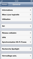 Apple iPhone 5 - Internet - Désactiver les données mobiles - Étape 4