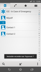 Sony E2003 Xperia E4G - Contactgegevens overzetten - delen via Bluetooth - Stap 12