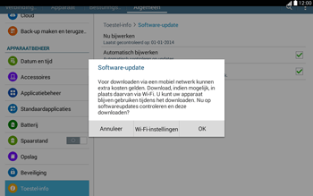 Samsung T535 Galaxy Tab 4 10-1 - Software updaten - Update installeren - Stap 8