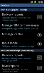 Samsung I8530 Galaxy Beam - SMS - Manual configuration - Step 4