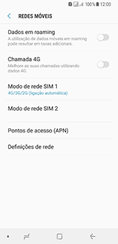 Samsung Galaxy A8 (2018) - Internet no telemóvel - Como ativar 4G -  8