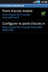 Samsung Galaxy Ace - Internet et connexion - Partager votre connexion en Wi-Fi - Étape 12