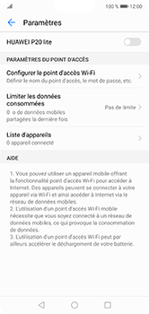 Huawei P20 lite - Internet et connexion - Partager votre connexion en Wi-Fi - Étape 6