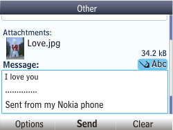 Nokia Asha 201 - E-mail - Sending emails - Step 17