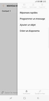 Samsung Galaxy S8+ - Contact, Appels, SMS/MMS - Envoyer un MMS - Étape 9