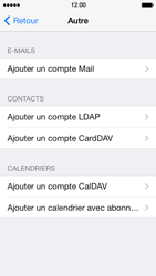 Apple iPhone 5s - E-mail - Configuration manuelle - Étape 7