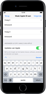 Apple iPhone 8 - iOS 12 - Applicaties - Account instellen - Stap 13
