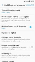 Samsung Galaxy A5 (2017) - Segurança - Como ativar o código de bloqueio do ecrã -  5